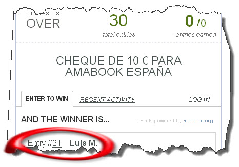 ganador cheque